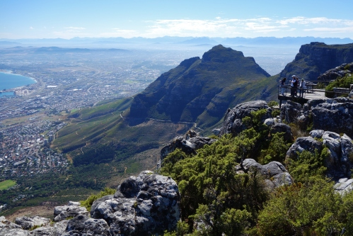 On our 2nd day we climbed to the top of Table Mountain