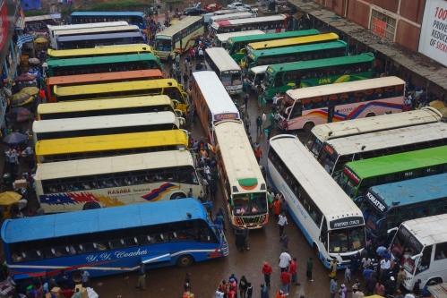 Buganda Bus Park in Kampala