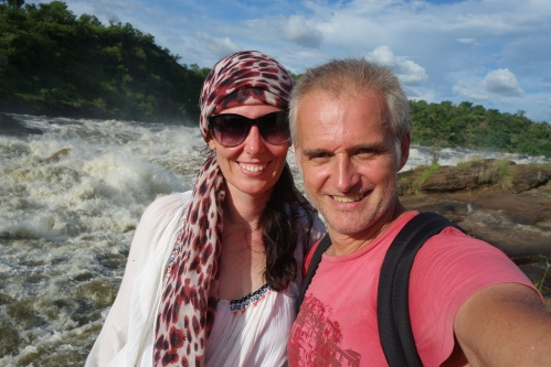 At the top of the Murchison falls