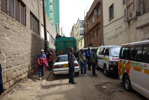 Matatu departing Nairobi