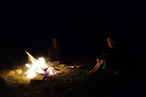 Scary night of camping on our own