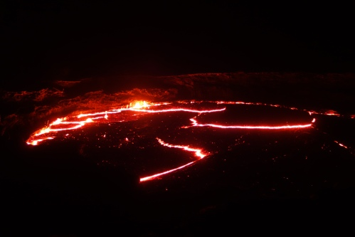 The Lava lake of Erta Ale