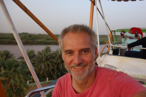 Ferris wheel ride in Khartoum where the White and Blue Nile merge