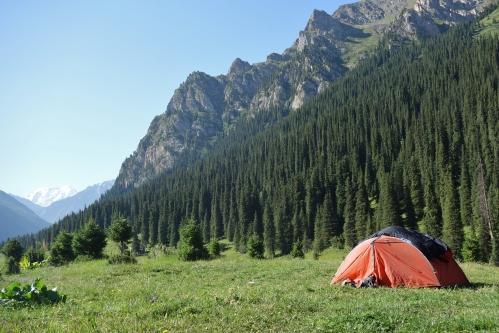 Camping in Kyrgyzstan