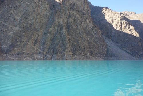 Attabad Lake cuts the KKH in two