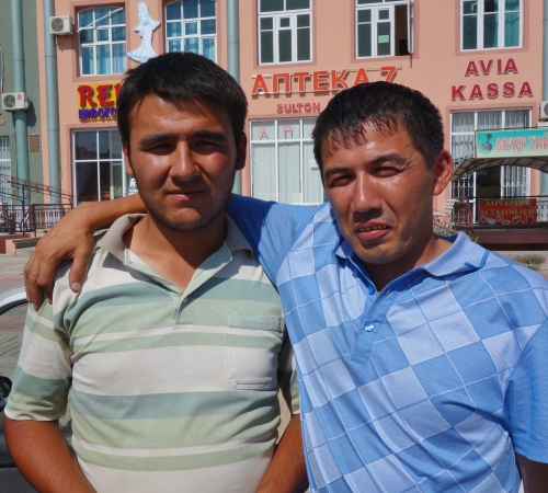 Our taxi men who took us from Tashkent to Andijon and to the Kyrgyzstan Border