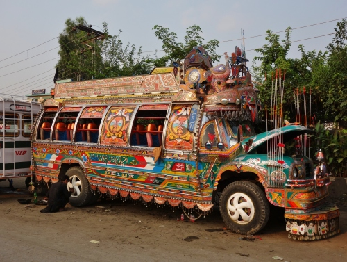 colourful bus Pakistan