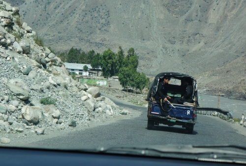Police Escort on Karakoram Highway