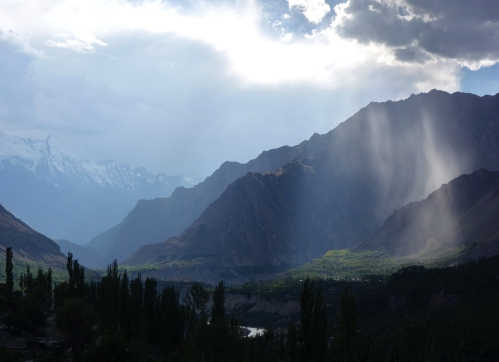 Hunza valley storm