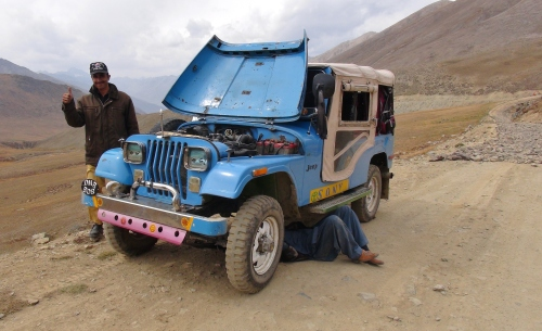 broken down on Deosai Plateau