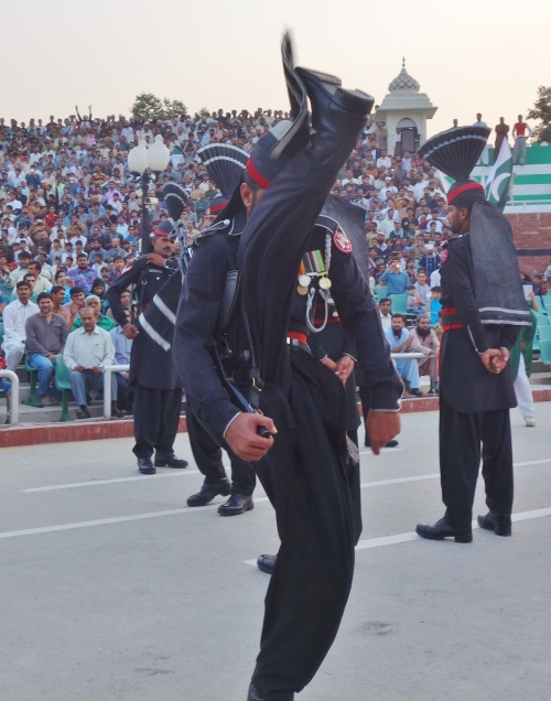 High kick at the India Pakistan border