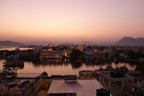 Sunset from Lal Ghat in Udaipur