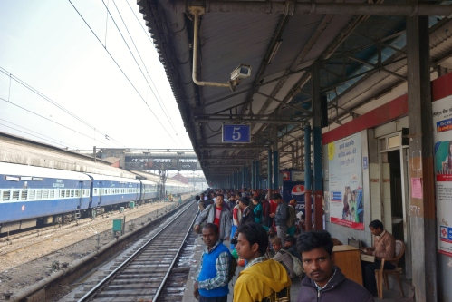 Waiting for the Jaipur Express at Old Delhi Station