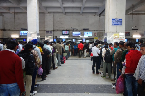 Queue at Old Delhi Station