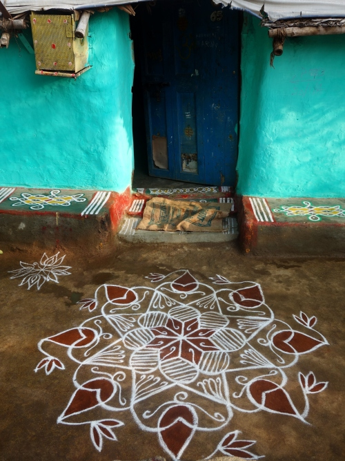 All the houses in the south have these beautiful patterns drawn outside the front door
