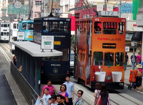 Glaswegian trams in Hong Kong