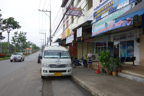 Minivan from west to east coast of Thai peninsula