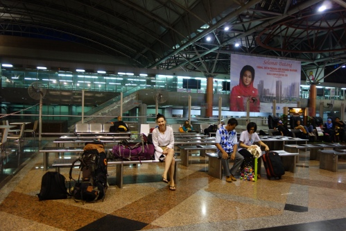 Waiting in KL central for the train to Singapore
