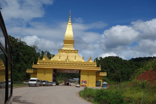 The Laos China border